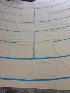 Canvas Labyrinth in progress